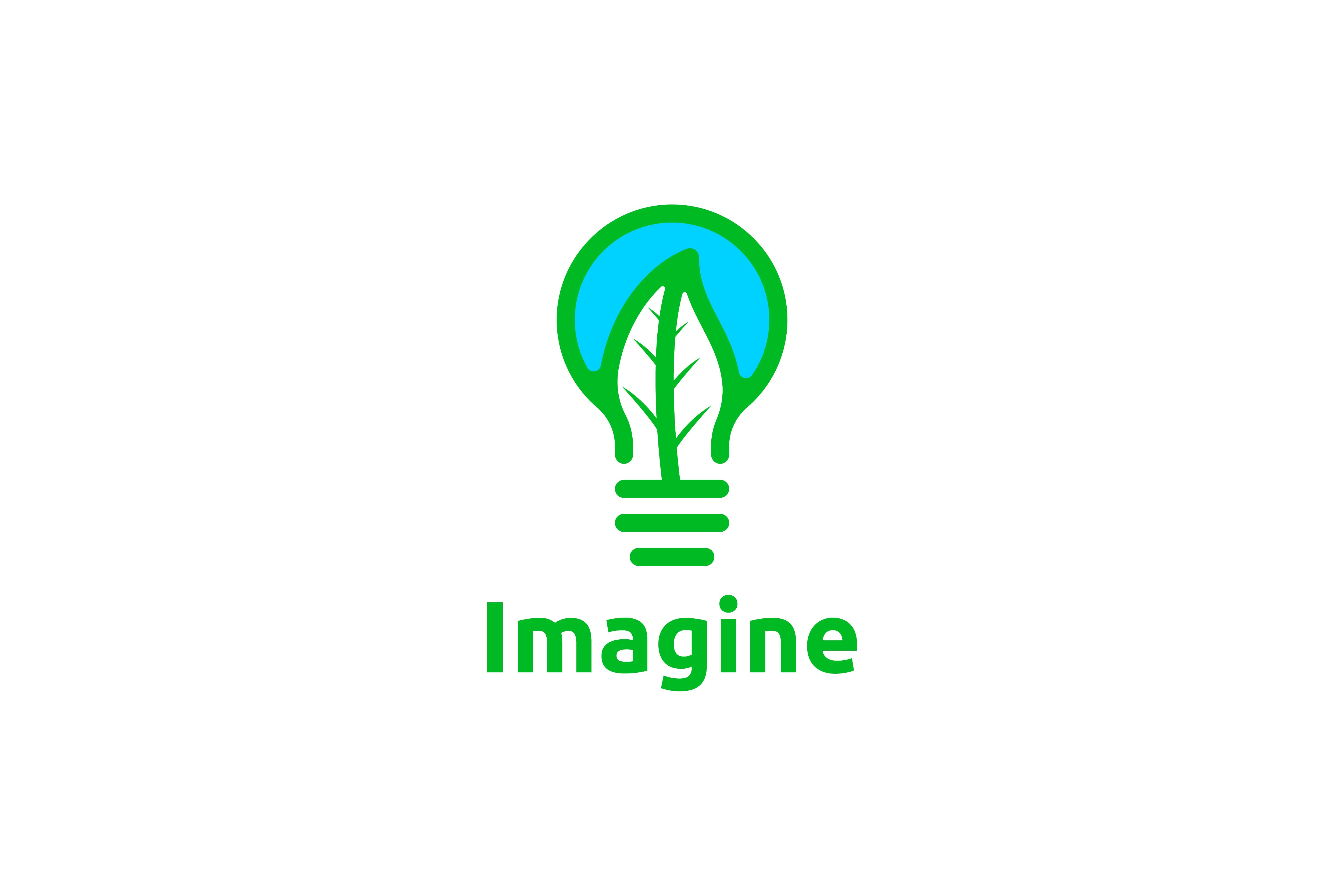 Download Free Bulb And Leaf Imagine Healthy Logo Graphic By for Cricut Explore, Silhouette and other cutting machines.