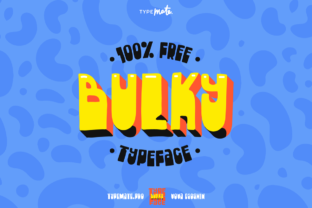 Bulky Font By Creative Fabrica Freebies