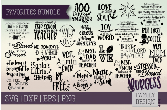 Bundle Favorites Graphic Crafts By burgessfamilydesign - Image 1