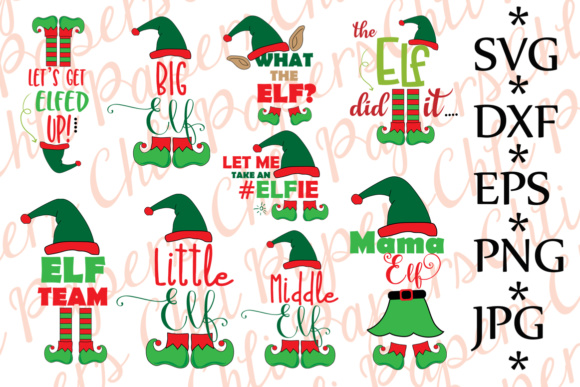 Download Free Bundle Elf Christmas Bundle Graphic By Chilipapers Creative for Cricut Explore, Silhouette and other cutting machines.