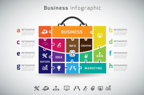 Print on Demand: Busines Infographic Vector Graphic Infographics By vito12
