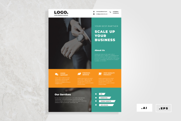 Business Flyer Graphic Print Templates By TMint
