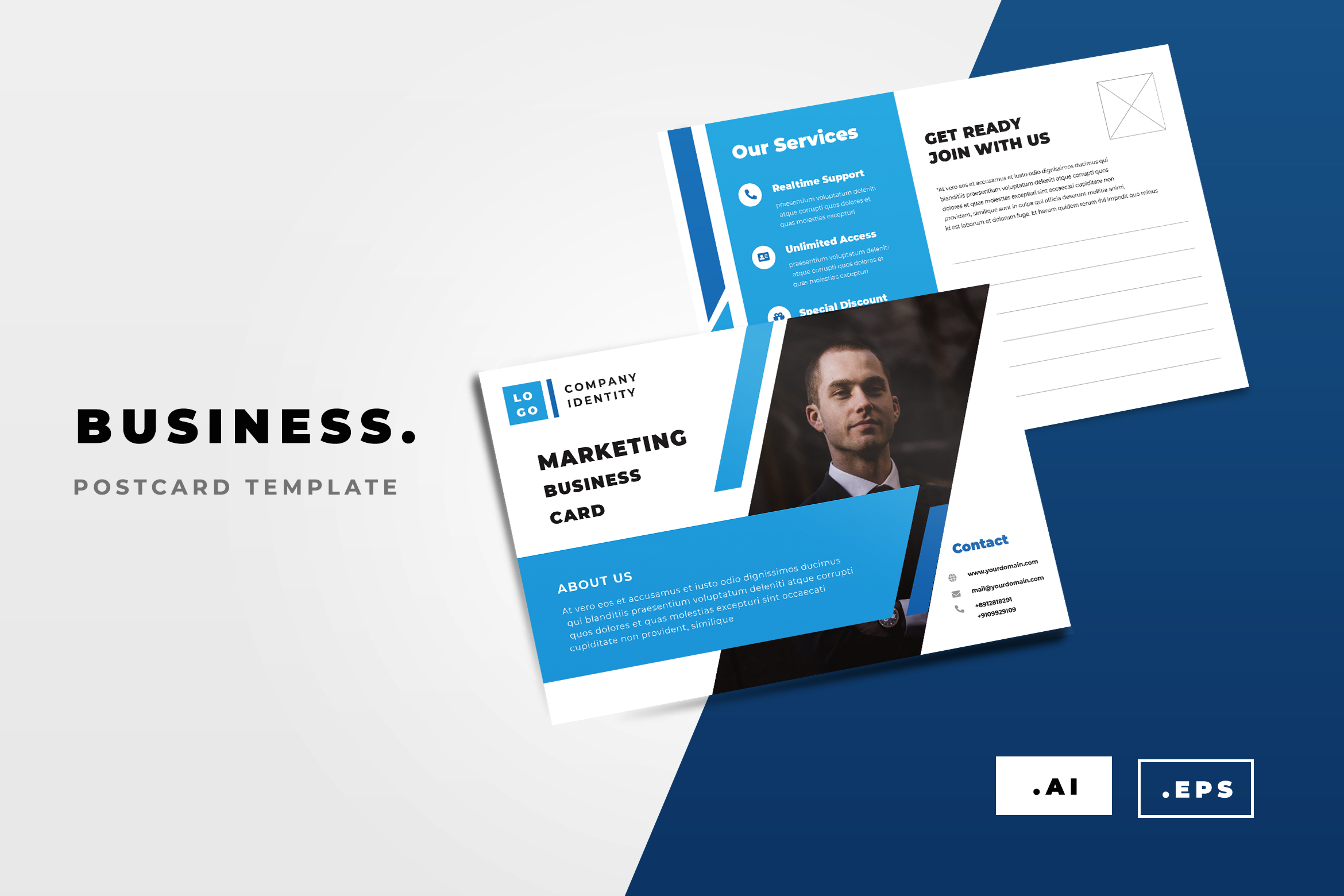 Business Postcard Graphic by TMint Creative Fabrica