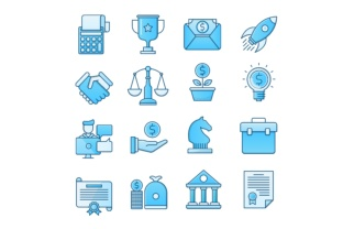 Download Free Business Icons Set Graphic By Back1design1 Creative Fabrica for Cricut Explore, Silhouette and other cutting machines.
