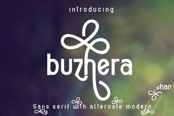 Print on Demand: Buzhera Sans Serif Font By jehansyah251