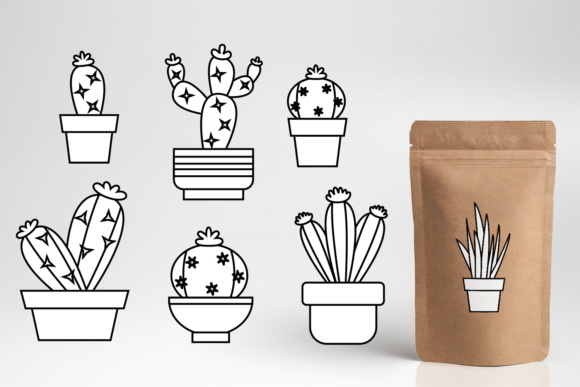 Download Free Cacti Graphic By Darrakadisha Creative Fabrica for Cricut Explore, Silhouette and other cutting machines.
