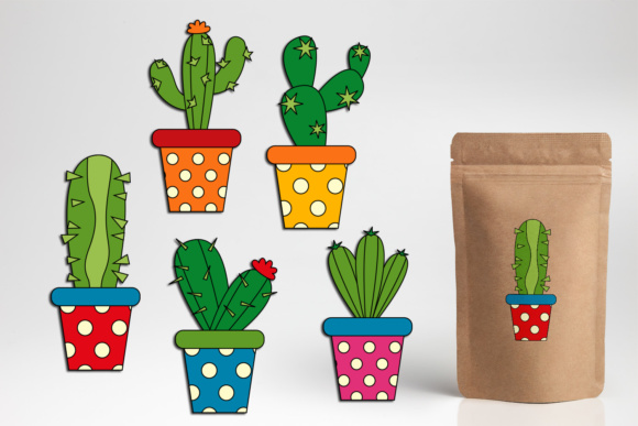 Print on Demand: Cactus Graphic Illustrations By DarraKadisha