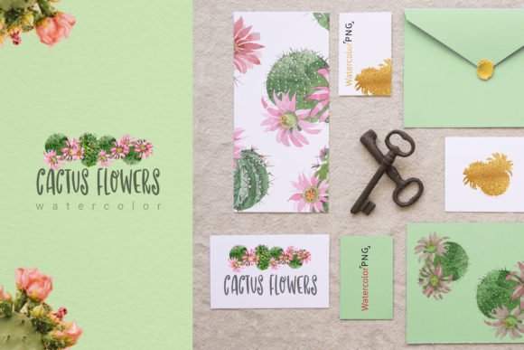 Print on Demand: Cactus Flowers Watercolor Set Graphic Illustrations By MyStocks - Image 2