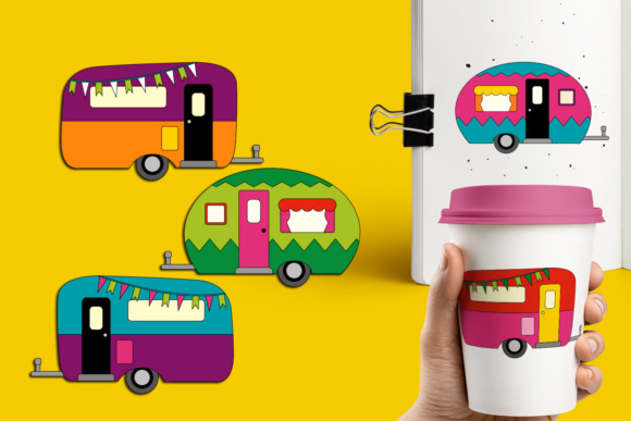 Print on Demand: Camper Caravan Graphic Illustrations By Revidevi