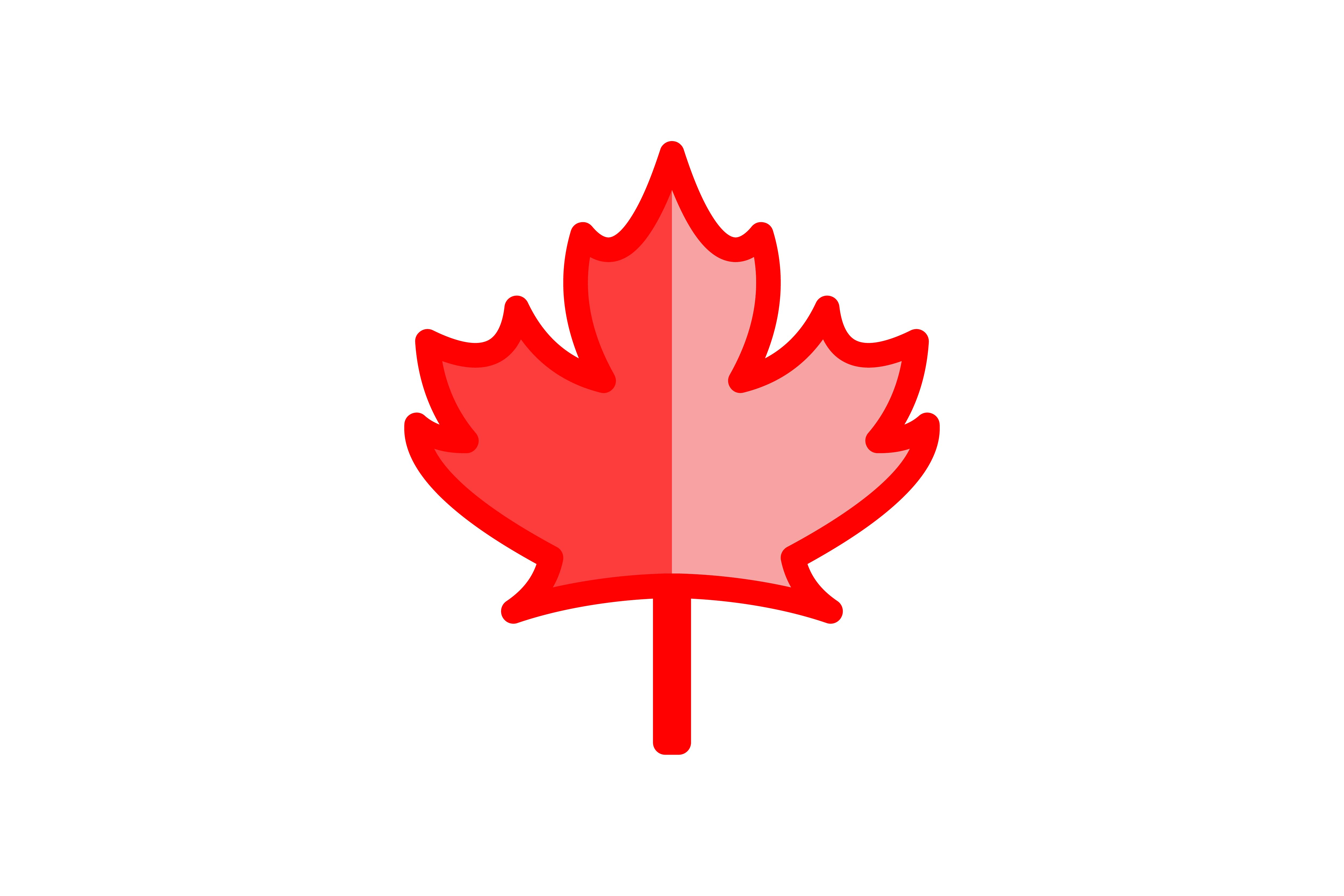 Download Free Canadian Red Maple Leaf Logo Graphic By Yahyaanasatokillah for Cricut Explore, Silhouette and other cutting machines.