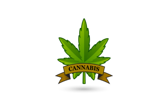 Print on Demand: Cannabis Leaf Logo Design Graphic Logos By sabavector