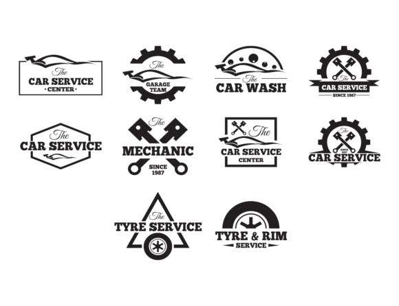 Download Free Car Logos Retro Style Vevtor Labels Badges And Icons Set for Cricut Explore, Silhouette and other cutting machines.