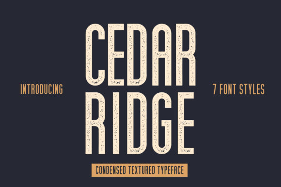 Print on Demand: Cedar Ridge Sans Serif Font By Mike Hill