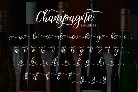 Print on Demand: Champagne Script & Handwritten Font By alandya typefoundry - Image 6