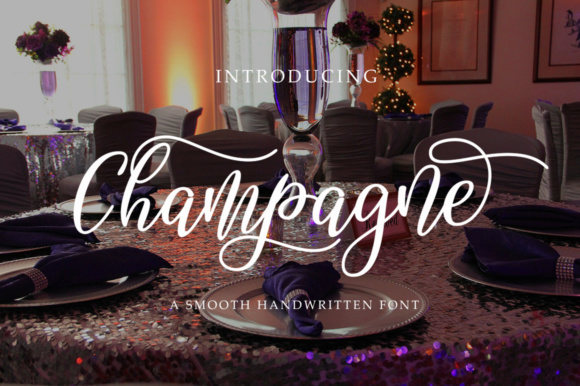 Print on Demand: Champagne Script & Handwritten Font By alandya typefoundry - Image 1