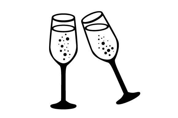 Download Free Champagne Glasses Svg Cut File By Creative Fabrica Crafts for Cricut Explore, Silhouette and other cutting machines.