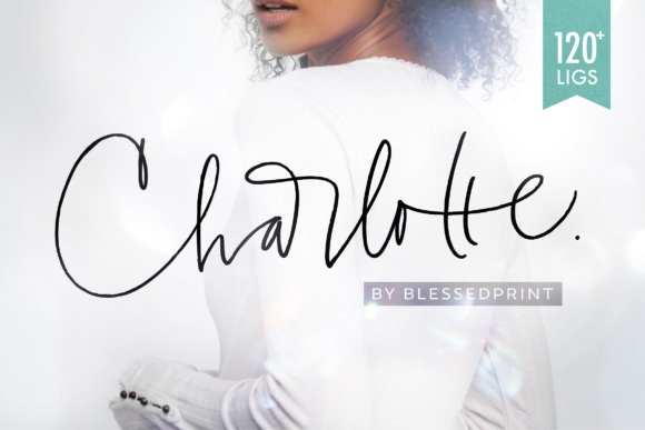Download Free Charlotte Script Font By Blessed Print Creative Fabrica for Cricut Explore, Silhouette and other cutting machines.