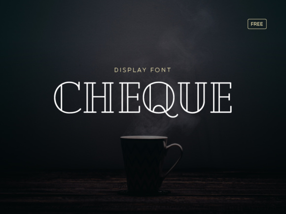 Print on Demand: Cheque Display Font By Creative Fabrica Freebies