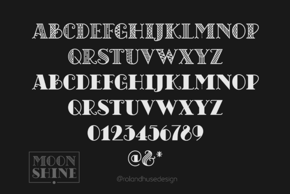 Chicago Moonshine Font By Roland Hüse Image 3
