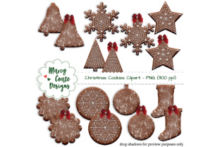 Chocolate Christmas Cookies Graphic By MarcyCoateDesigns