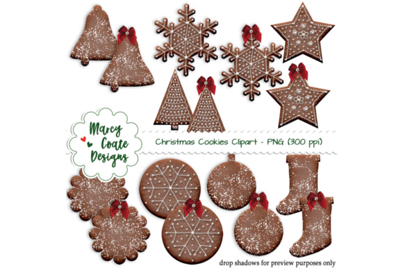 Download Free Chocolate Christmas Cookies Graphic By Marcycoatedesigns for Cricut Explore, Silhouette and other cutting machines.
