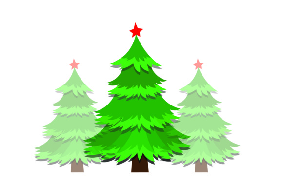 Download Free Christmas 9 Trees Bundle Graphic By Bluestar Creatives for Cricut Explore, Silhouette and other cutting machines.
