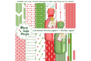 Christmas Arrows Backgrounds & Clipart Graphic By MarcyCoateDesigns