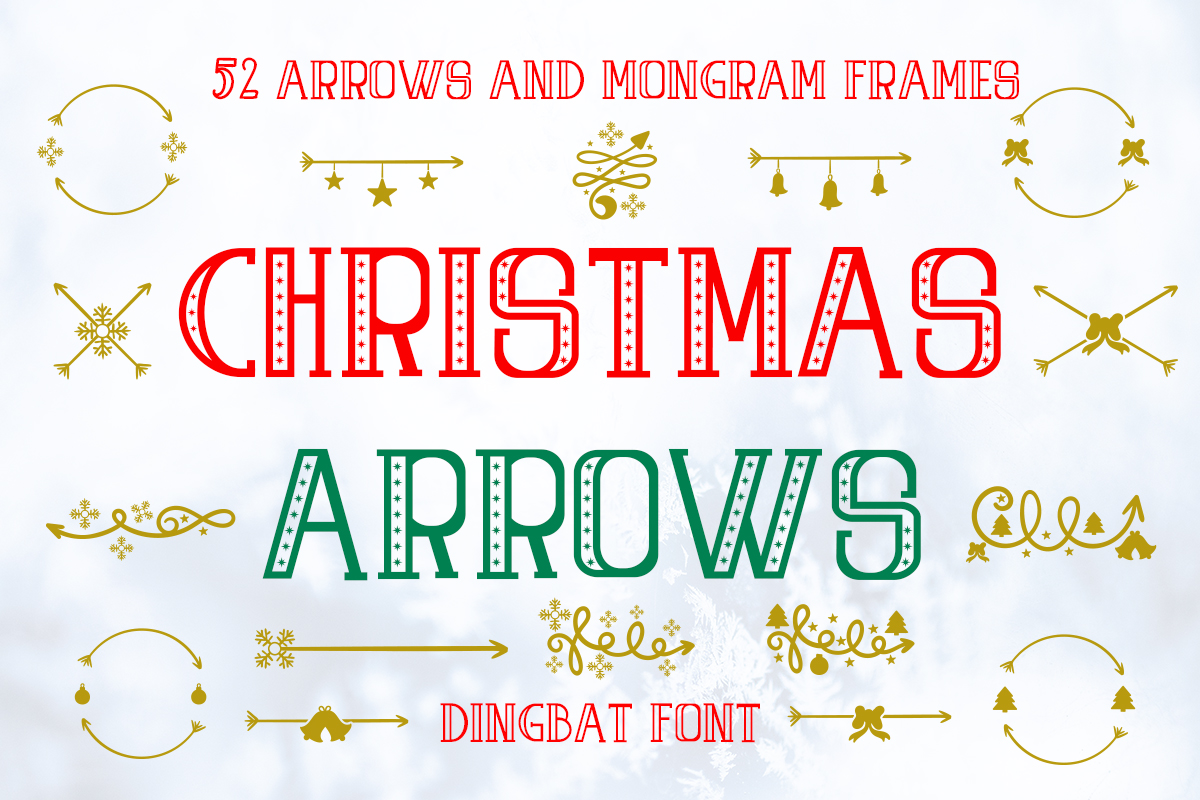 Download Free Christmas Arrows Font By Illustrator Guru Creative Fabrica for Cricut Explore, Silhouette and other cutting machines.