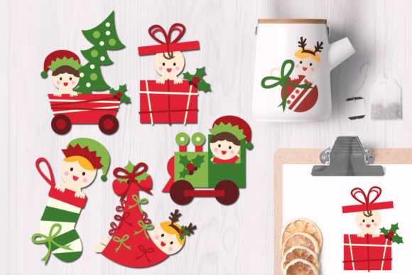 Print on Demand: Christmas Baby Graphic Illustrations By Revidevi