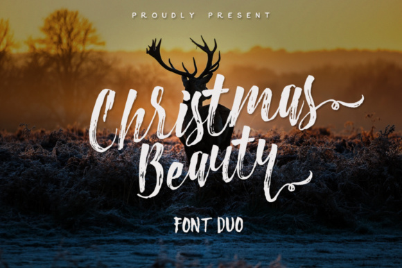 Print on Demand: Christmas Beauty Display Font By m.ardiansyah1988