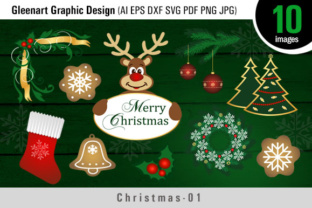 Christmas Bundle Clipart Graphic By Gleenart Graphic Design