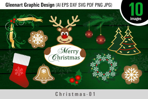 Christmas Bundle Clipart Graphic Illustrations By Gleenart Graphic Design