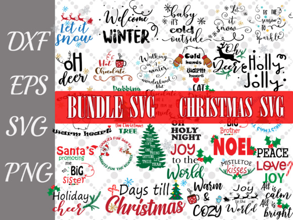 Christmas Bundle Graphic Crafts By prettydesignstudio