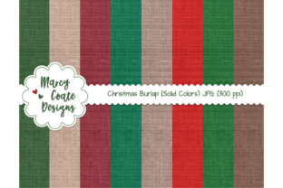 Christmas Burlap Backgrounds Graphic By MarcyCoateDesigns