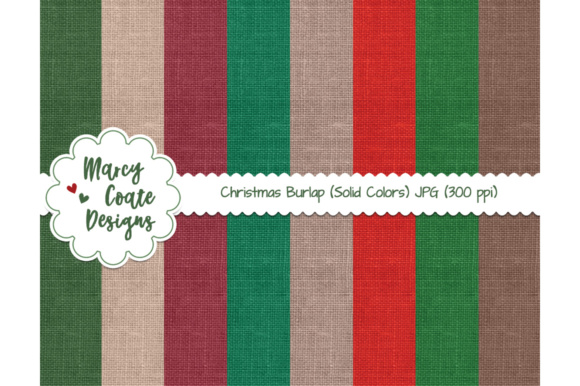 Christmas Burlap Backgrounds Graphic Backgrounds By MarcyCoateDesigns