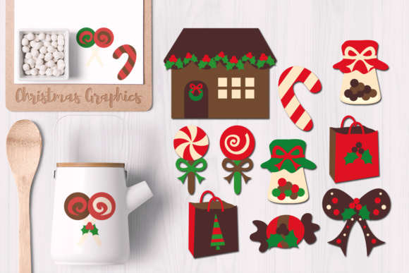 Print on Demand: Christmas Candyland Graphic Illustrations By Revidevi