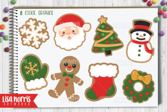 Christmas Cookies Clip Art Graphics Graphic By Lisa Norris Artworks Image 2