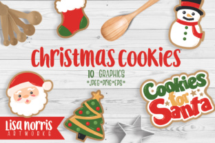 Download Free Christmas Cookies Clip Art Graphics Grafico Por Lisa Norris for Cricut Explore, Silhouette and other cutting machines.