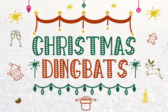 Print on Demand: Christmas Dingbats Dingbats Font By Lickable Pixels - Image 1