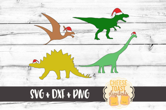 christmas dinosaurs christmas svg files graphics