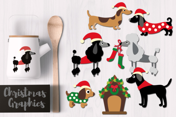 Print on Demand: Christmas Dogs Graphic Illustrations By Revidevi