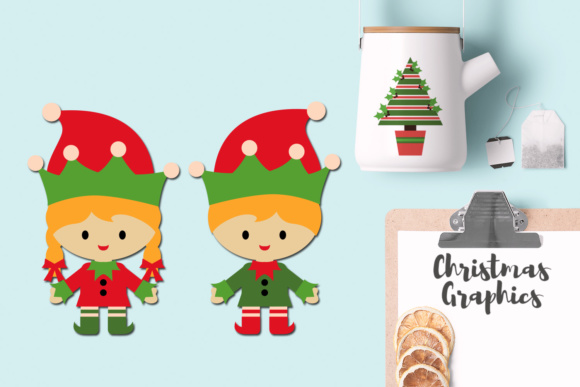 Christmas Elves.Christmas Elves Party Graphics