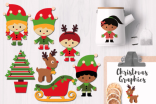 Christmas Elves Party Graphics Graphic By Revidevi