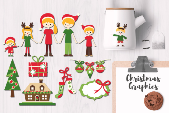 Print on Demand: Christmas Family Graphic Illustrations By Revidevi