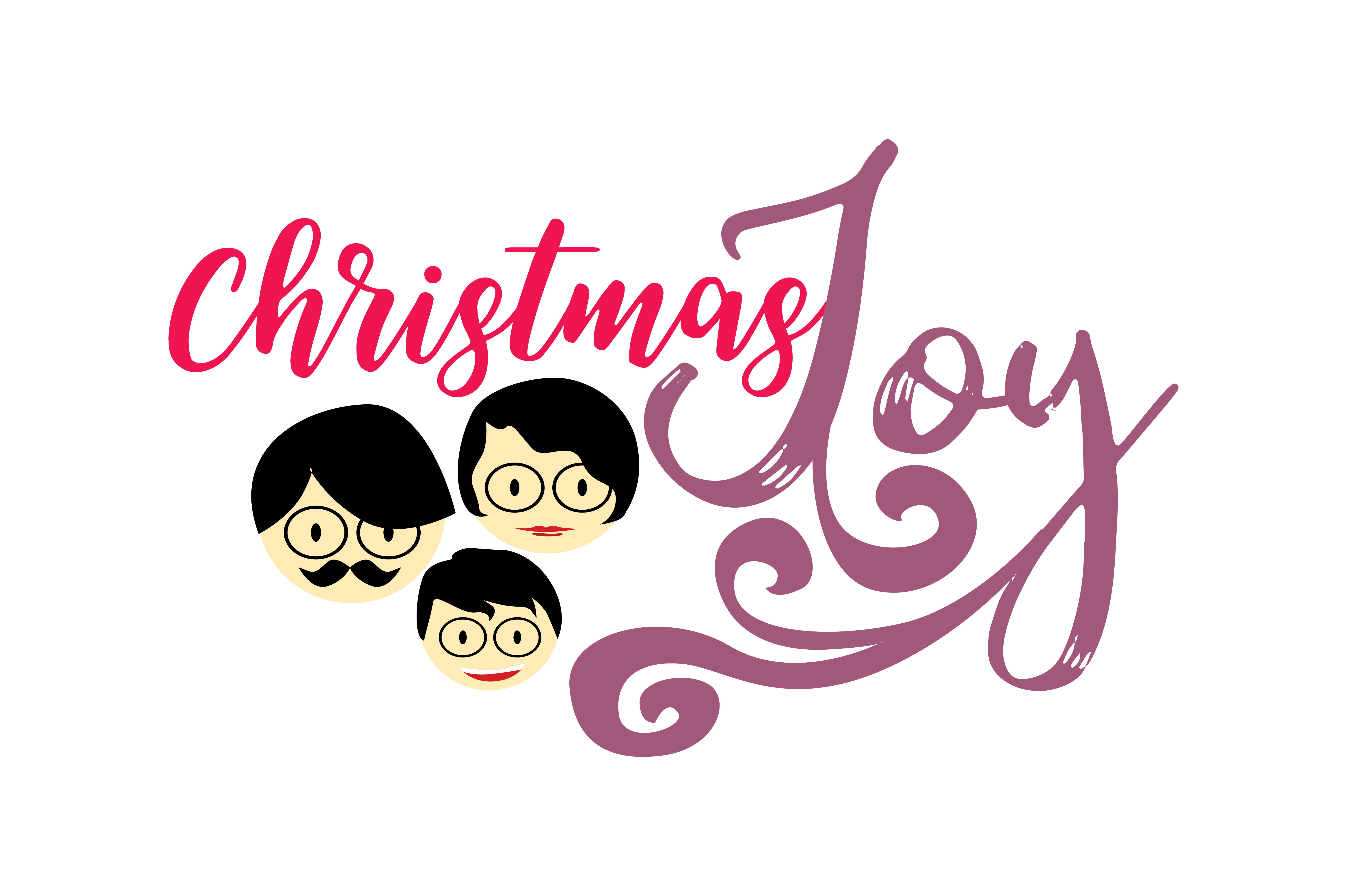 Download Free Christmas Joy Graphic By Thelucky Creative Fabrica for Cricut Explore, Silhouette and other cutting machines.