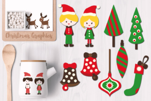 Christmas Kids and Ornaments Graphic By Revidevi