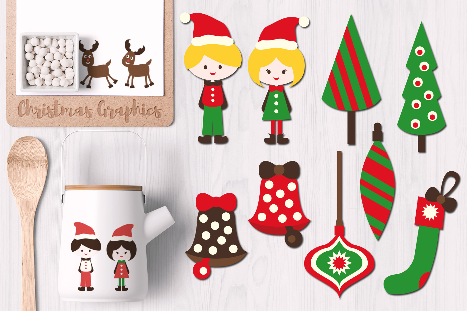Download Free Christmas Kids And Ornaments Graphic By Revidevi Creative Fabrica for Cricut Explore, Silhouette and other cutting machines.