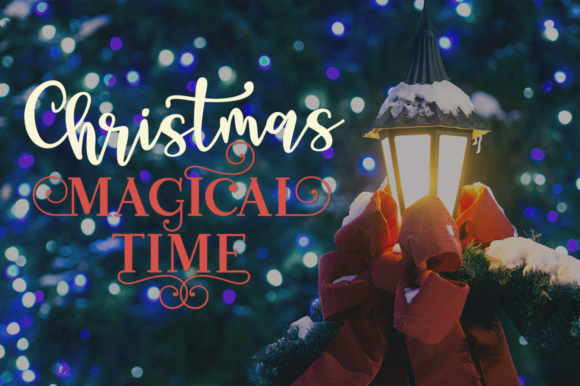 Print on Demand: Christmas Mystery Family Script & Handwritten Font By Pasha Larin - Image 2