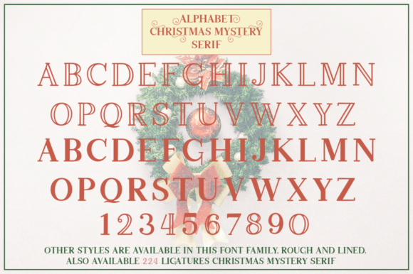 Download Free Christmas Mystery Family Font By Pasha Larin Creative Fabrica for Cricut Explore, Silhouette and other cutting machines.