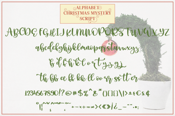 Print on Demand: Christmas Mystery Family Script & Handwritten Font By Pasha Larin - Image 7